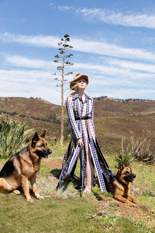 Elle Fanning covers Vanity Fair October 2020 by Tierney Gearon