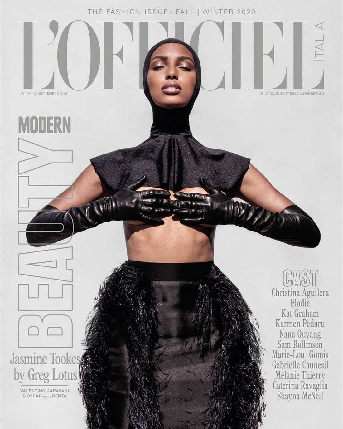 Jasmine Tookes covers L'Officiel Italia September 2020 by Greg Lotus