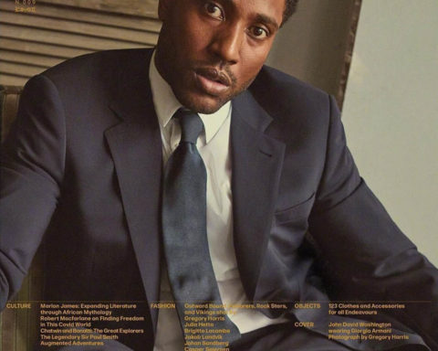 John David Washington covers L'Uomo Vogue October 2020 by Gregory Harris
