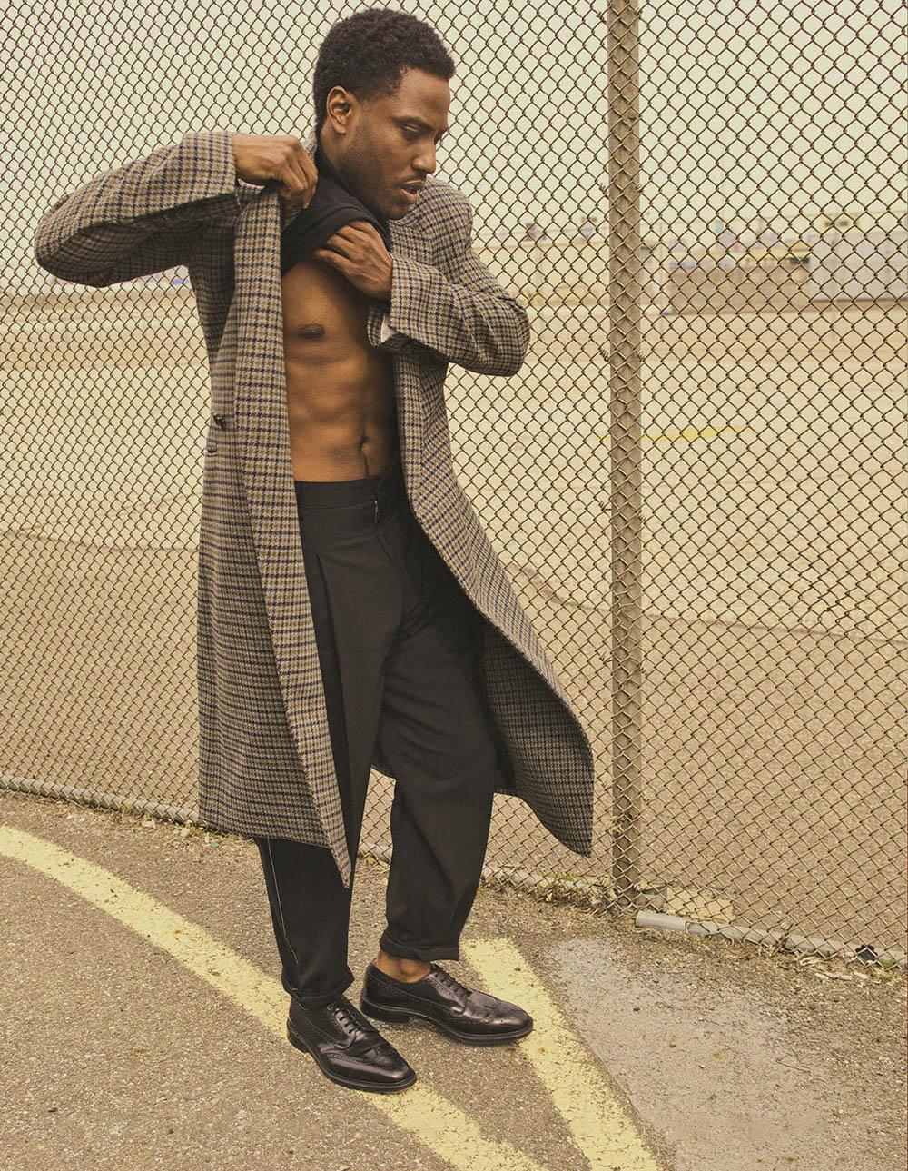 John David Washington covers L'Uomo Vogue October 2020 by Gregory Harris