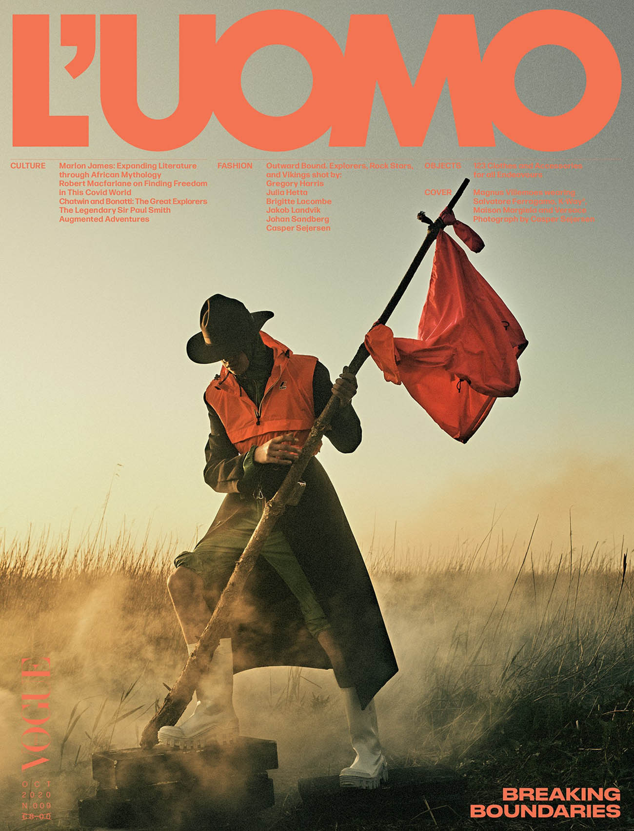 Magnus Villemoes covers L'Uomo Vogue October 2020 by Casper Sejersen