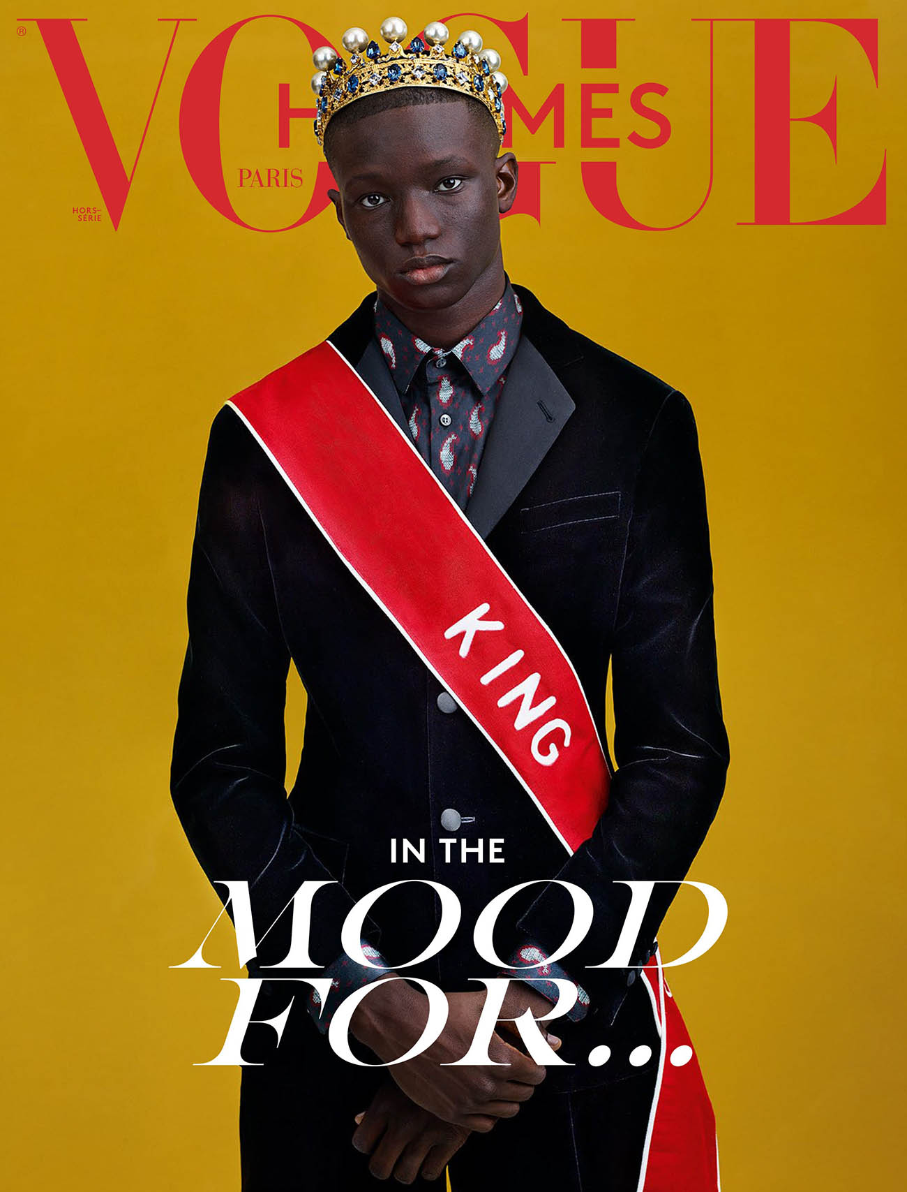 Mahamadou Diaoune covers Vogue Hommes Paris Fall Winter 2020 by Craig McDean