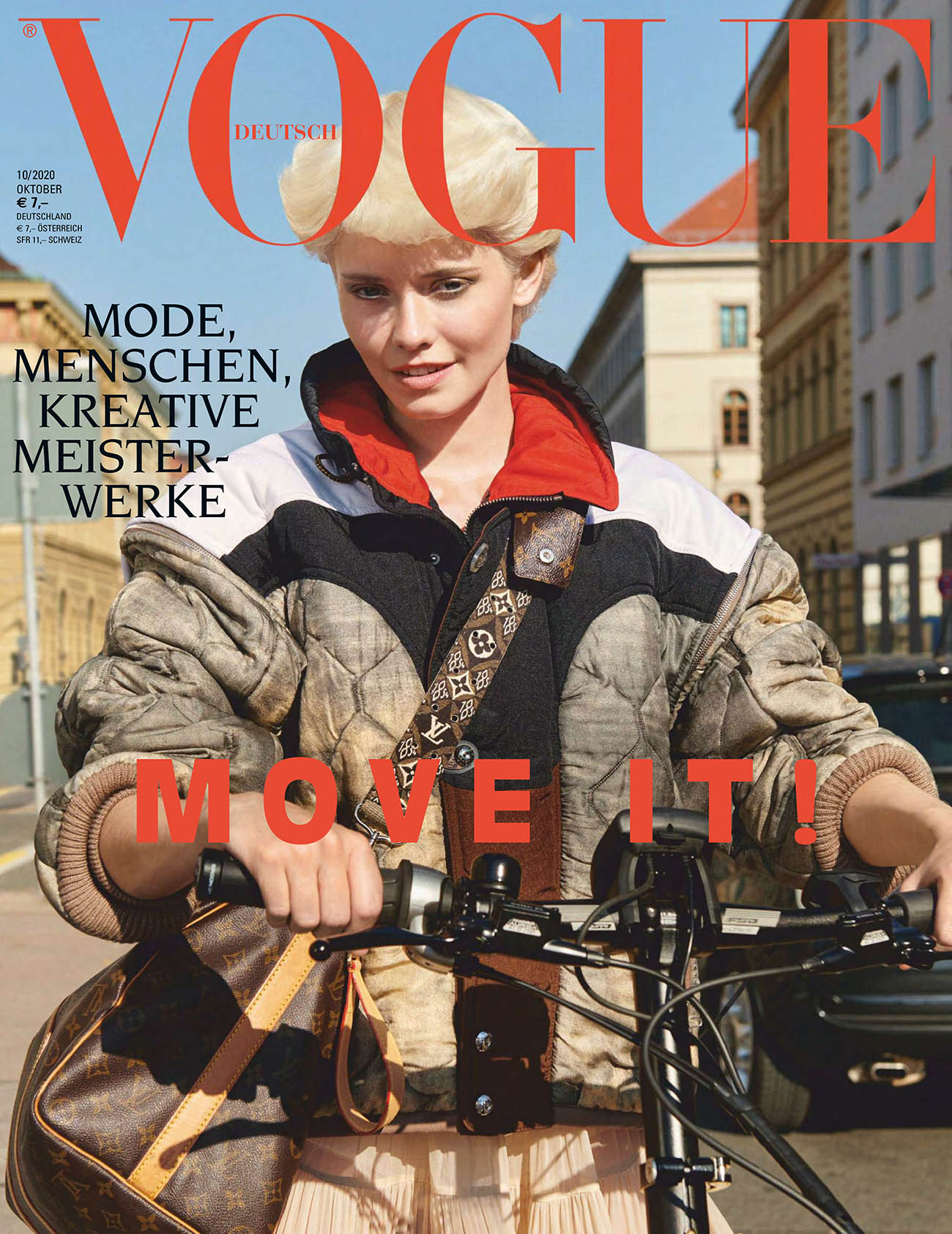 Maike Inga covers Vogue Germany October 2020 by Claudia Knoepfel