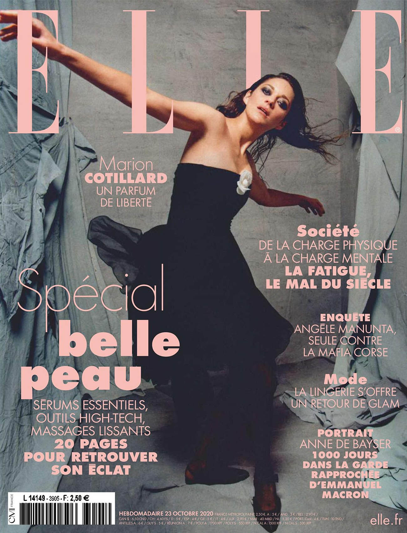 Marion Cotillard covers Elle France October 23rd, 2020 by Louie Banks