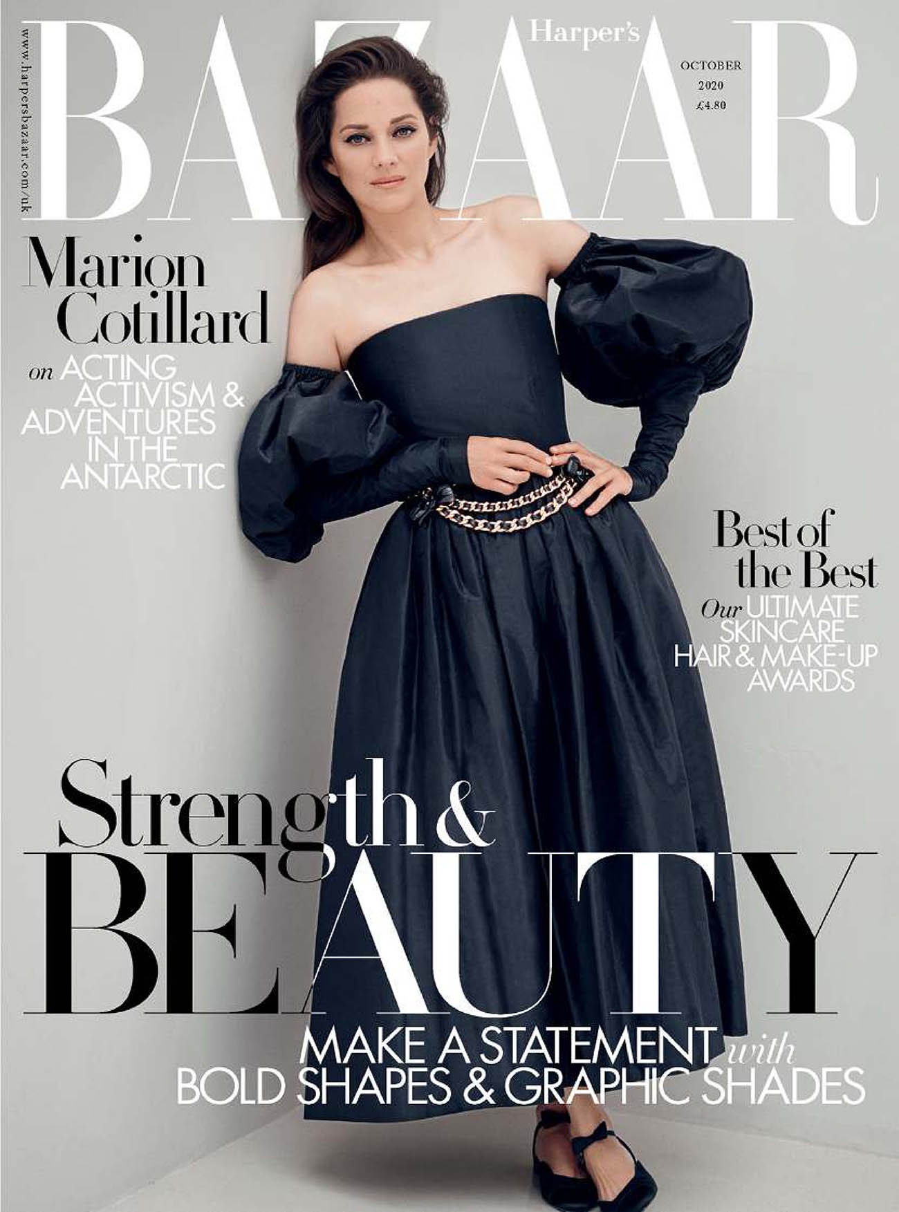Marion Cotillard covers Harper's Bazaar UK October 2020 by Serge Leblon