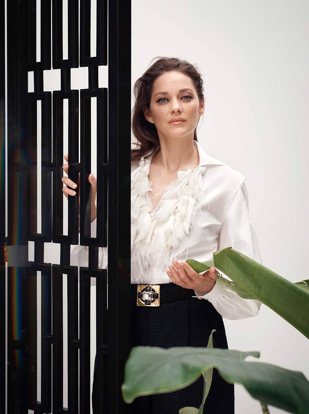 Marion Cotillard covers Harper's Bazaar UK October 2020 by Serge Leblon