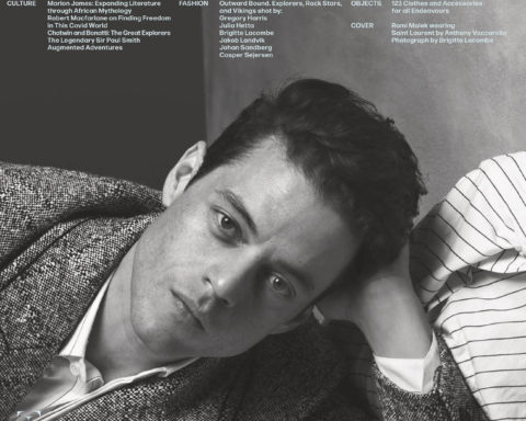 Rami Malek covers L'Uomo Vogue October 2020 by Brigitte Lacombe