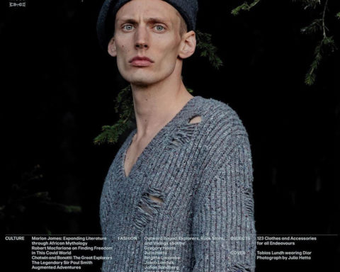 Tobias Lundh covers L'Uomo Vogue October 2020 by Julia Hetta