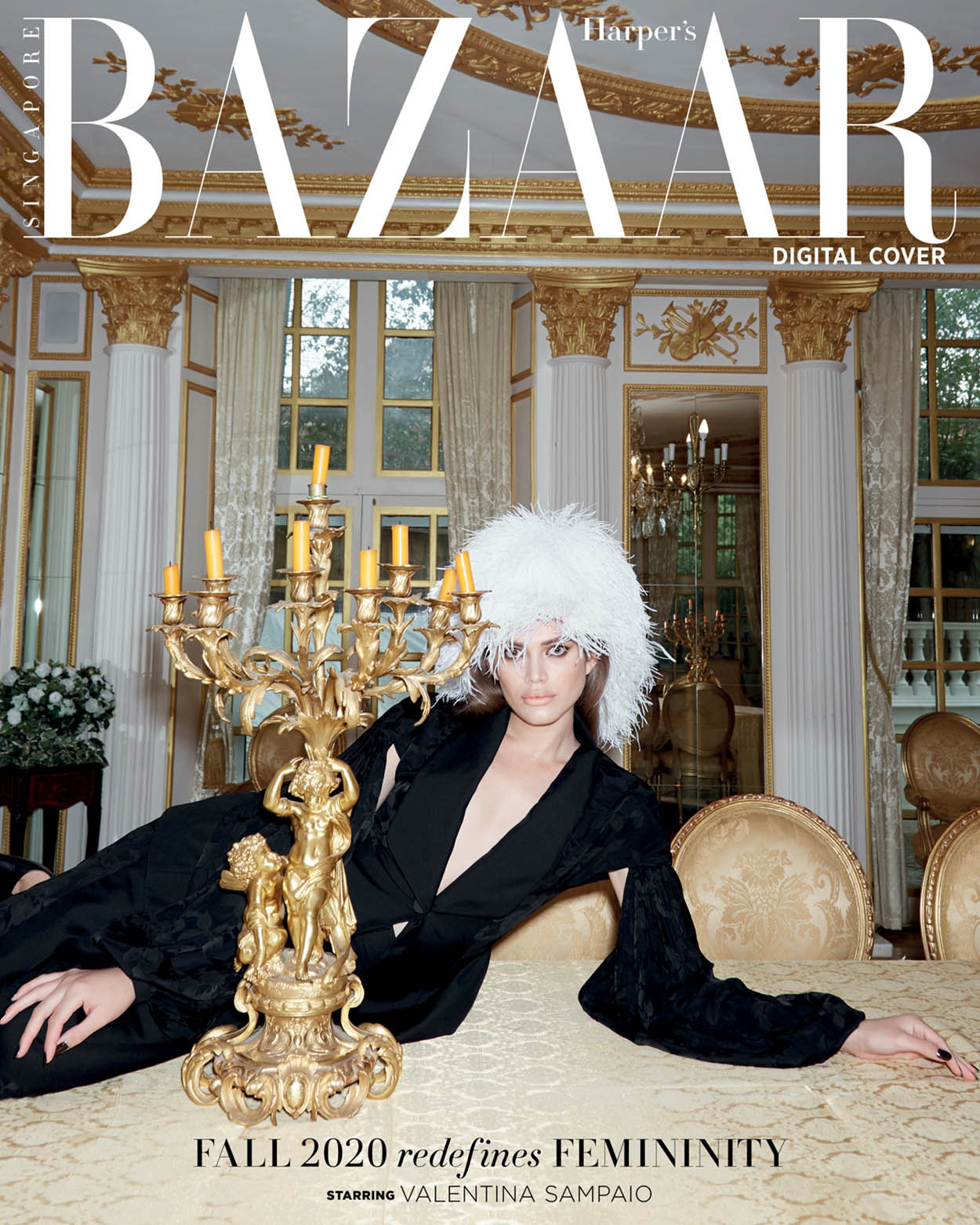 Valentina Sampaio covers Harper's Bazaar Singapore October 2020 by Claire Rothstein
