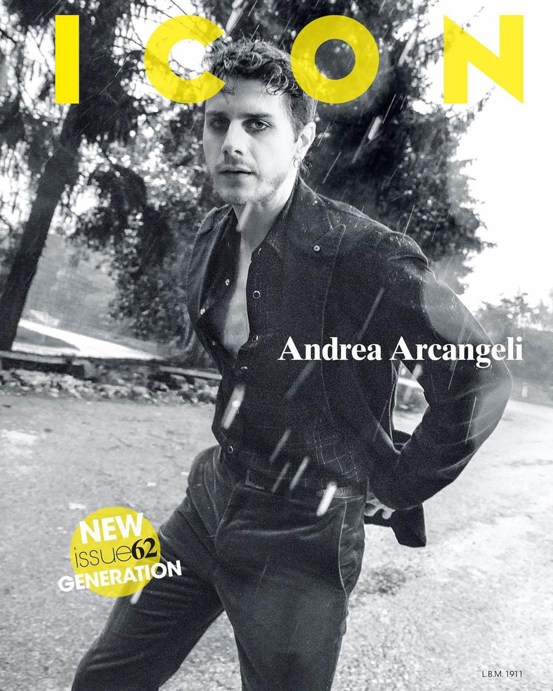 Andrea Arcangeli covers Icon Italia Issue 62 by Marco Imperatore