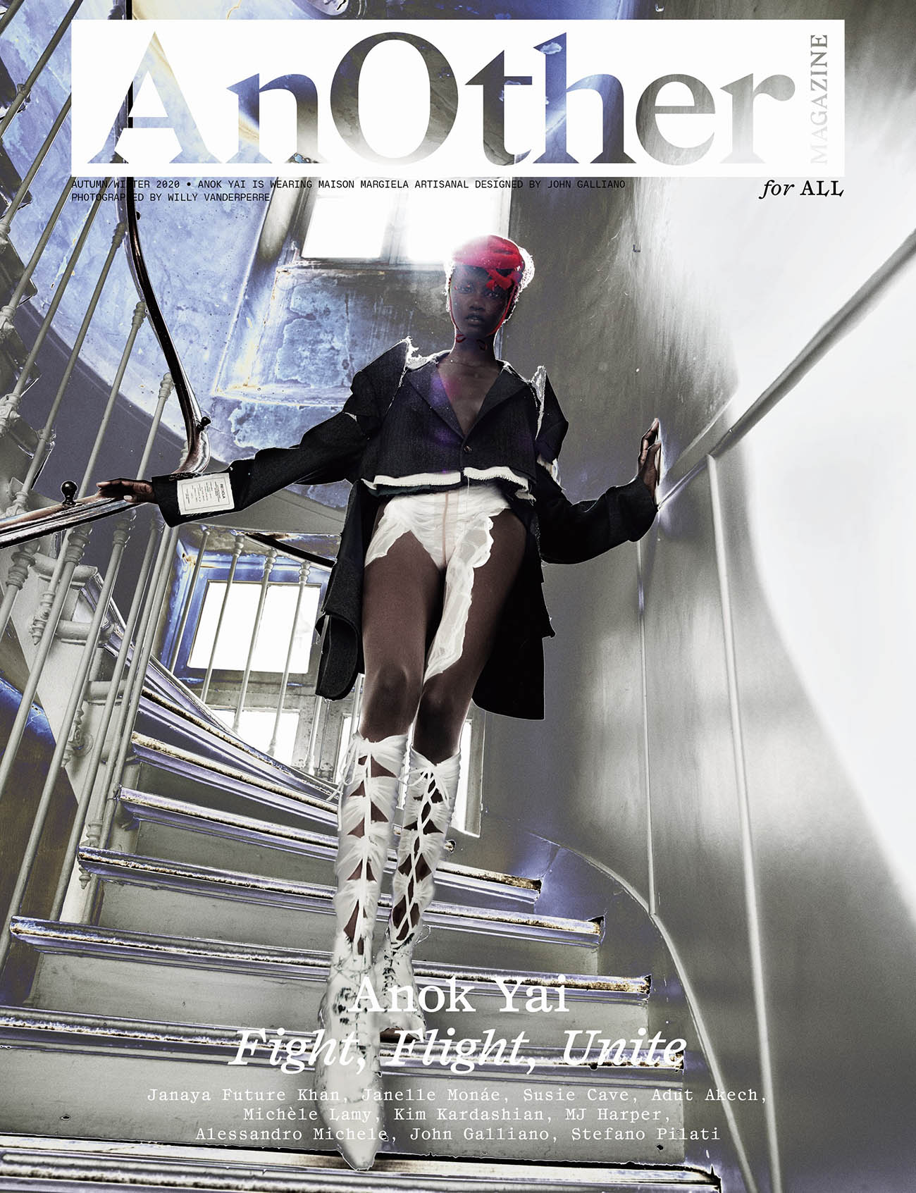 Anok Yai covers AnOther Magazine Autumn Winter 2020 by Willy Vanderperre