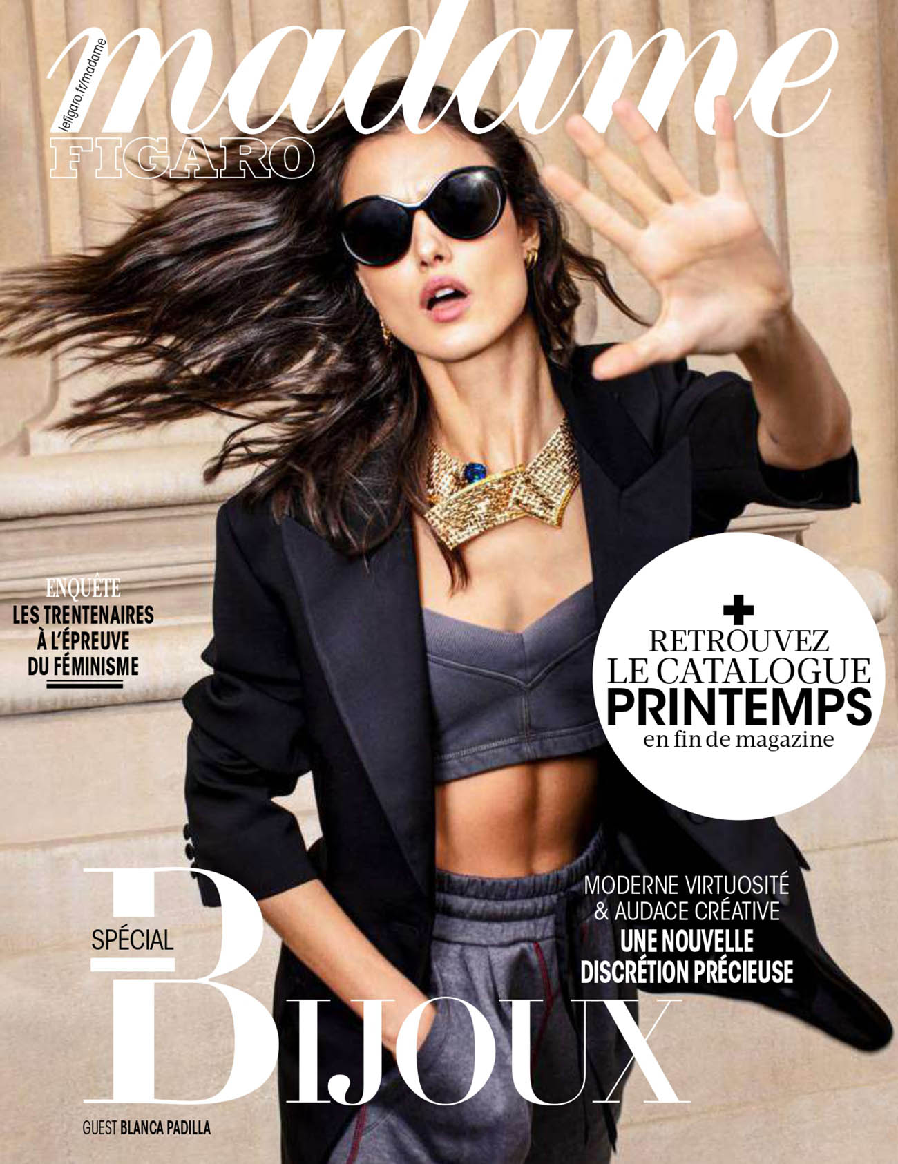 Blanca Padilla covers Madame Figaro November 20th, 2020 by Luc Braquet
