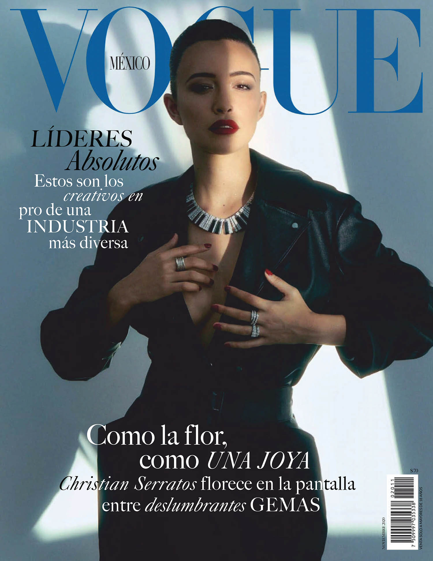 Christian Serratos covers Vogue Mexico & Latin America November 2020 by Olivia Malone