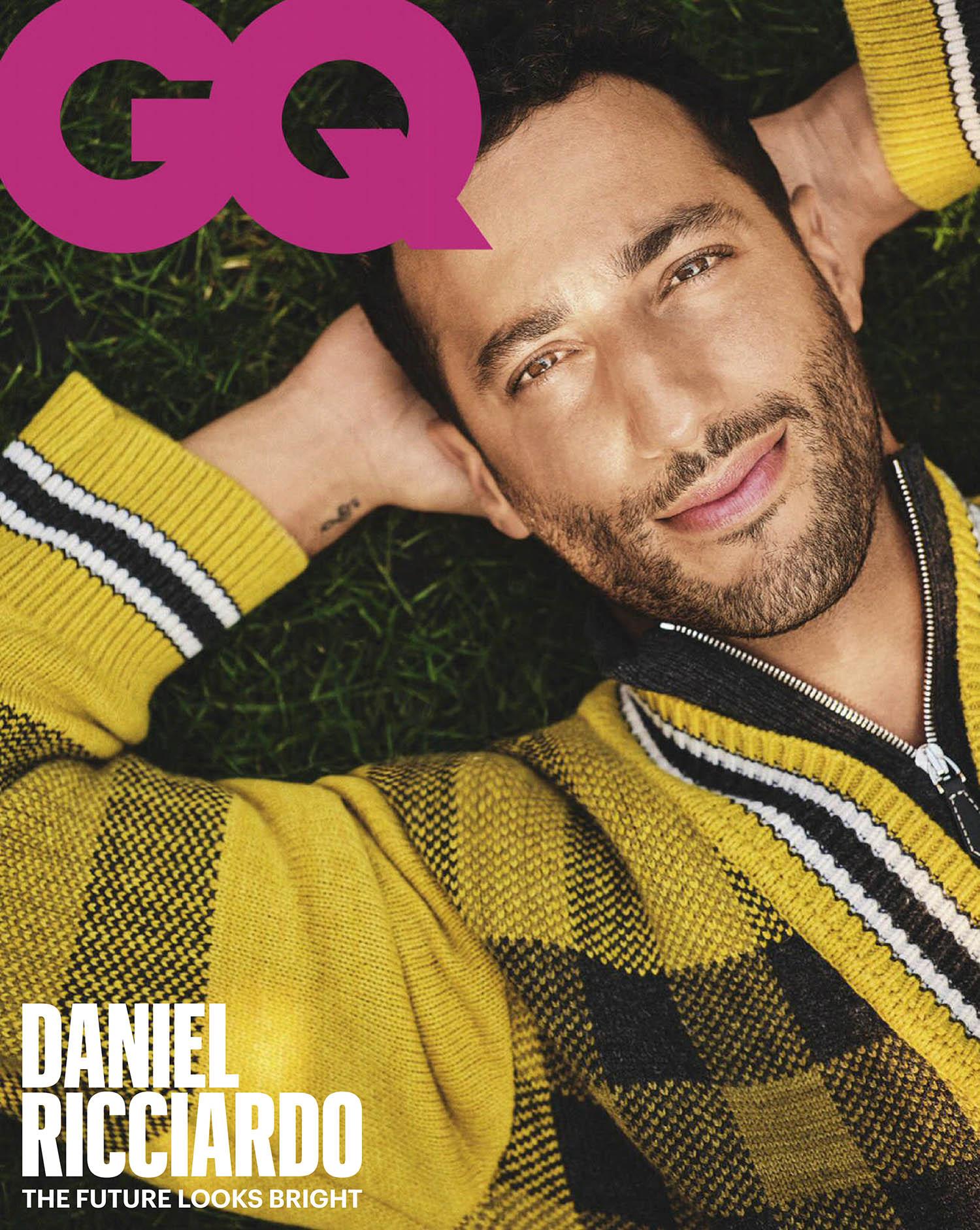 Daniel Ricciardo covers GQ Australia November-December 2020 by Tom Sloan