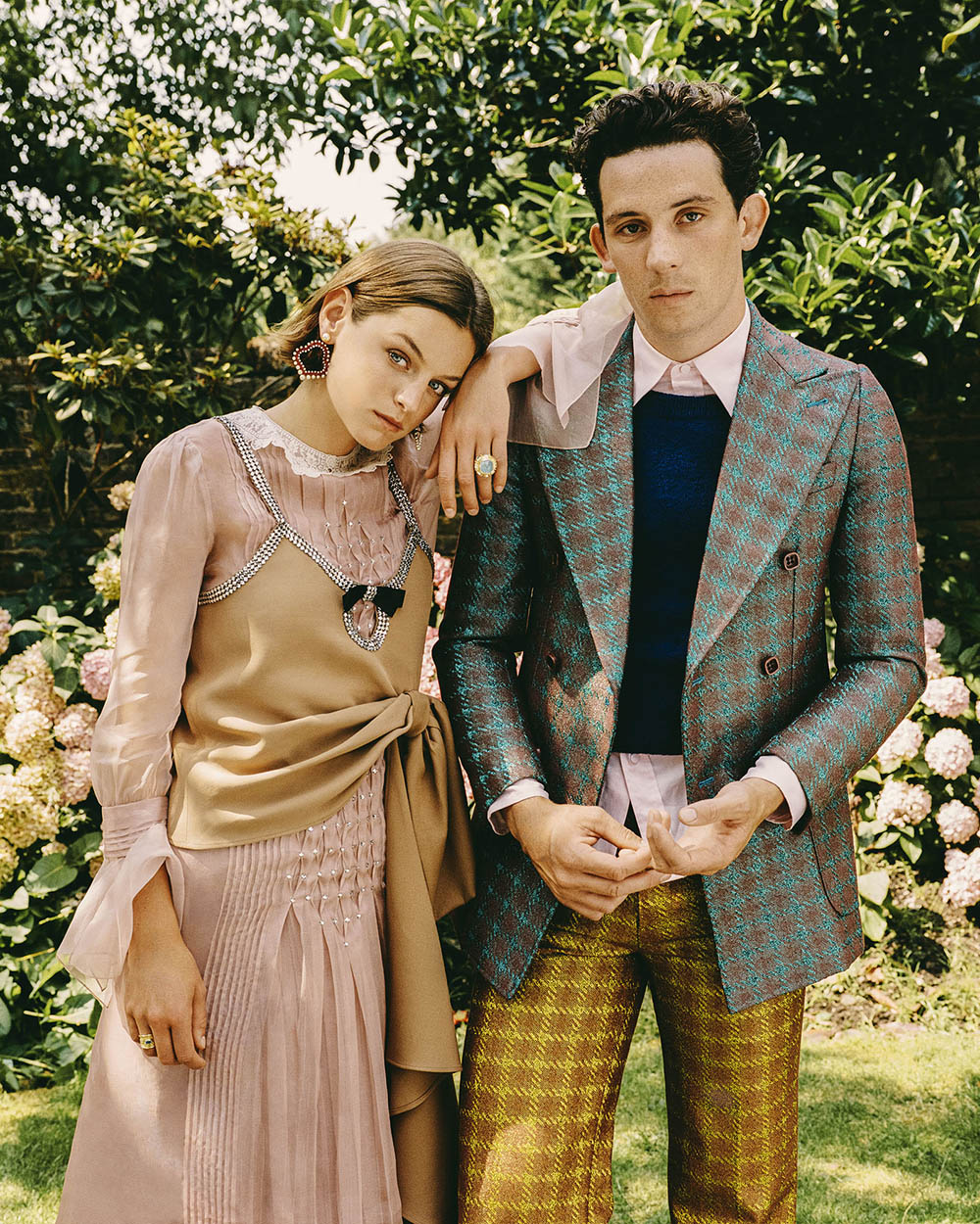 Emma Corrin, Josh O'Connor and Emerald Fennell cover Town & Country November 2020 by Danny Kasirye