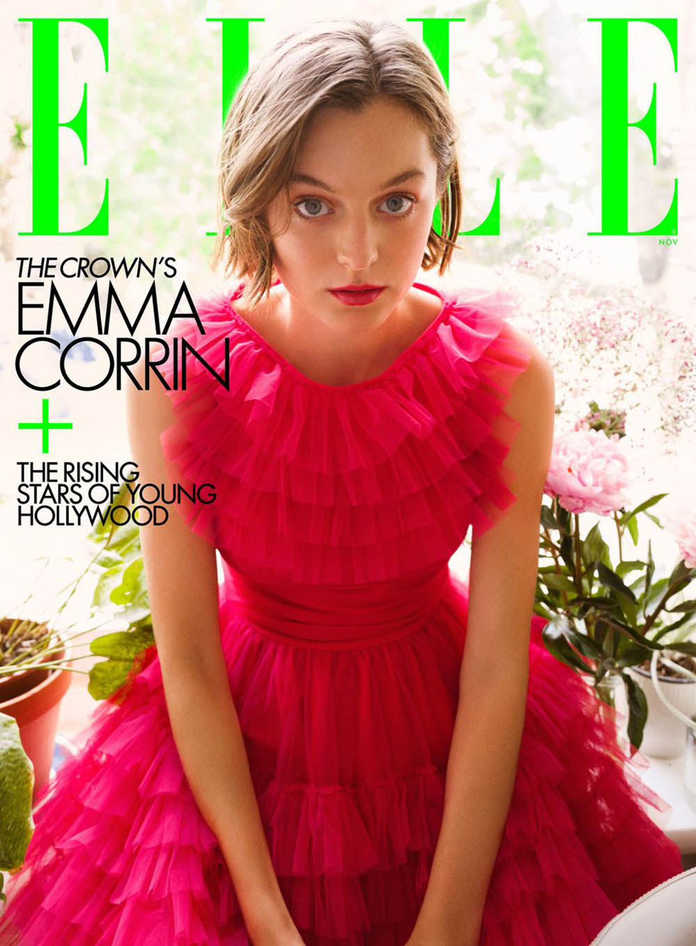 Emma Corrin covers Elle US November 2020 by Greg Williams