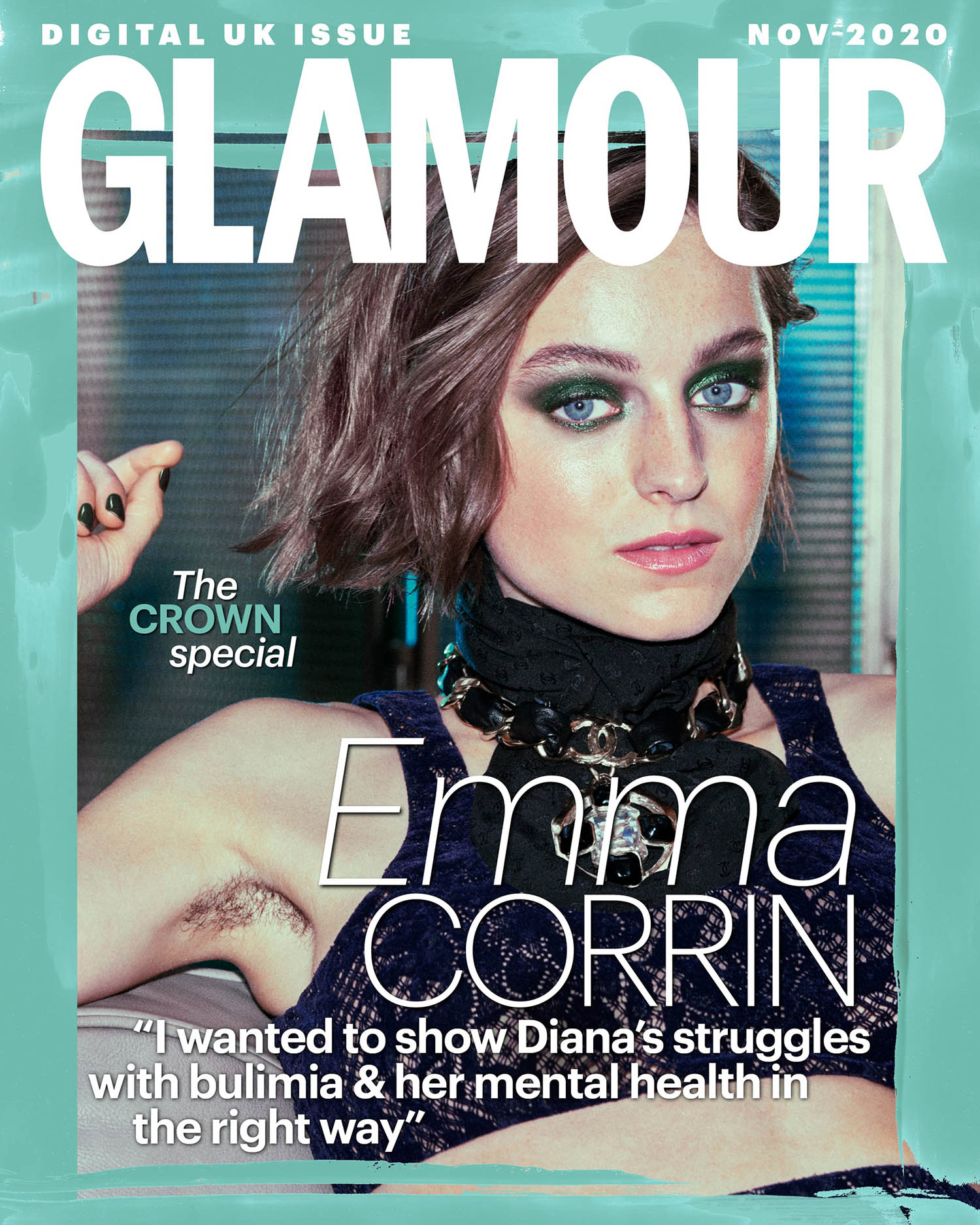 Emma Corrin covers Glamour UK November 2020 Digital Edition by Aitken Jolly