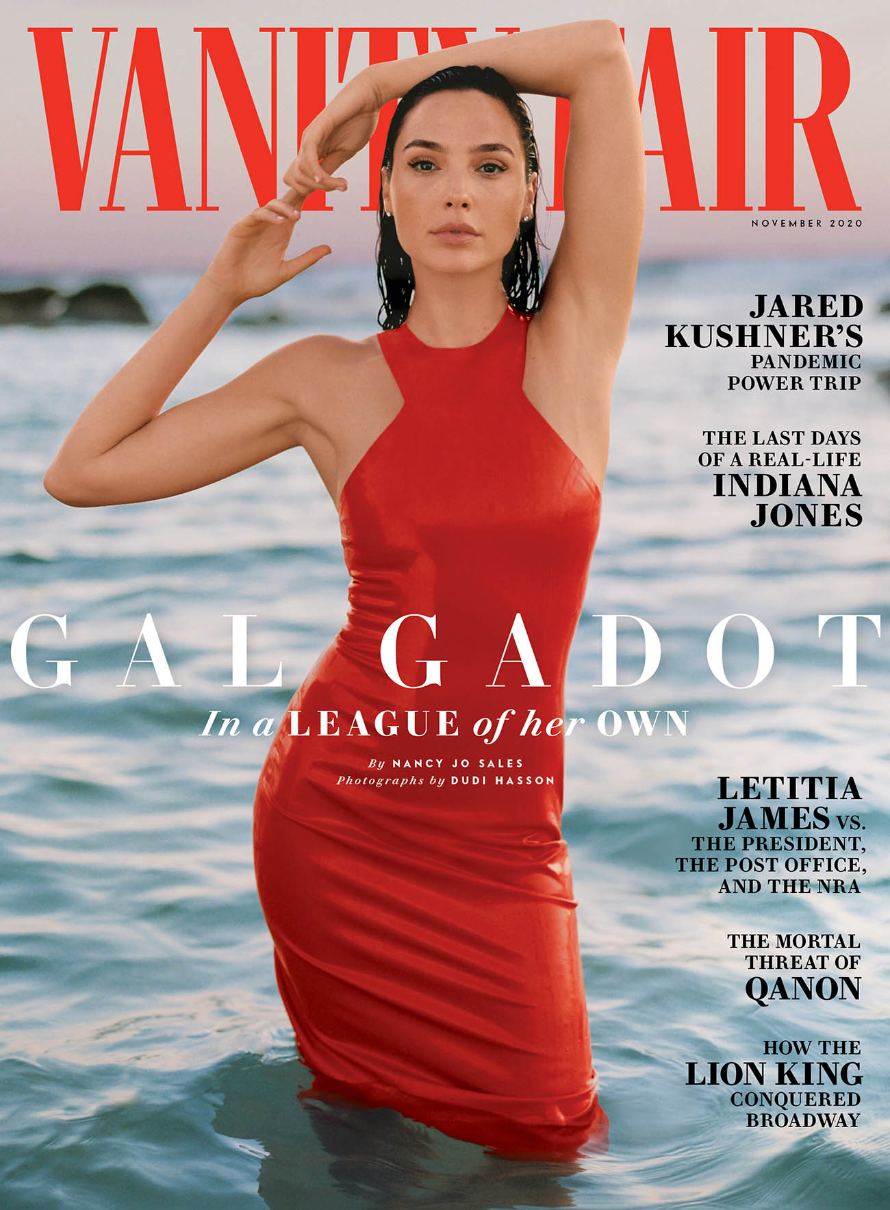 Gal Gadot covers Vanity Fair November 2020 by Dudi Hasson