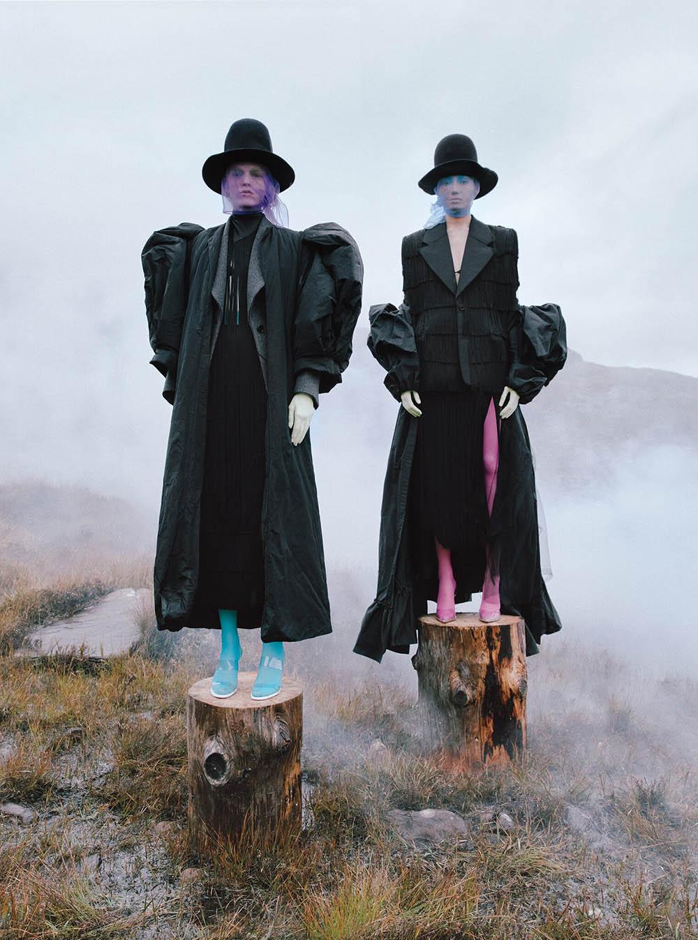 Hannah Motler and Morgan Fernandez cover T Magazine November 2020 by Kristin-Lee Moolman