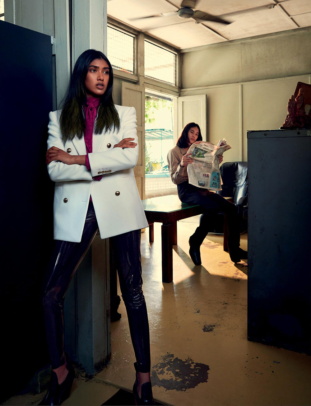 Irene Augustin and Spencer Lee by Gan for Harper's Bazaar Singapore November 2020