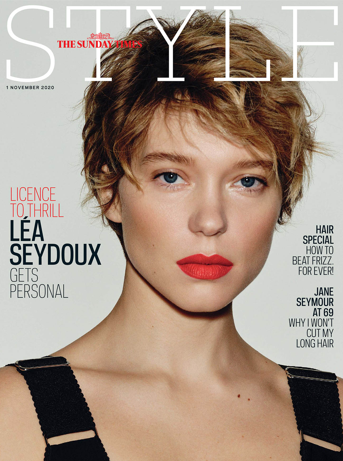 Léa Seydoux covers The Sunday Times Style November 1st, 2020 by David Ferrua