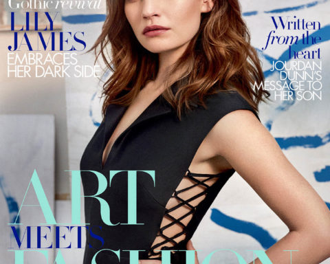 Lily James covers Harper's Bazaar UK November 2020 by Agata Pospieszynska