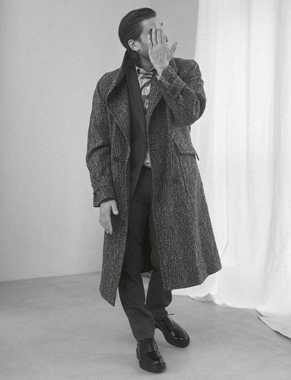 Luca Marinelli covers GQ Italia November 2020 by Mark Pillai