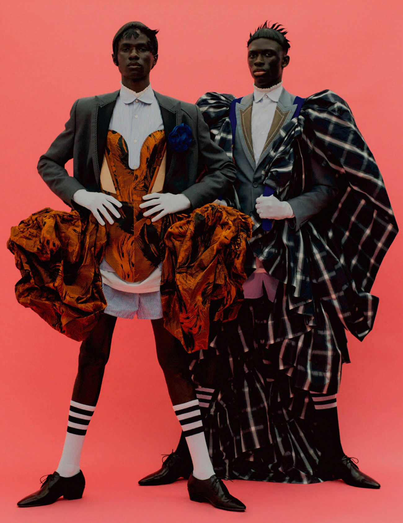 Malick Bodian and Khadim Sock by Rafael Pavarotti for Vogue Hommes Paris Fall/Winter 2020