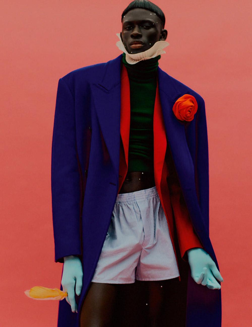 Malick Bodian and Khadim Sock by Rafael Pavarotti for Vogue Hommes Paris Fall/Winter 2020