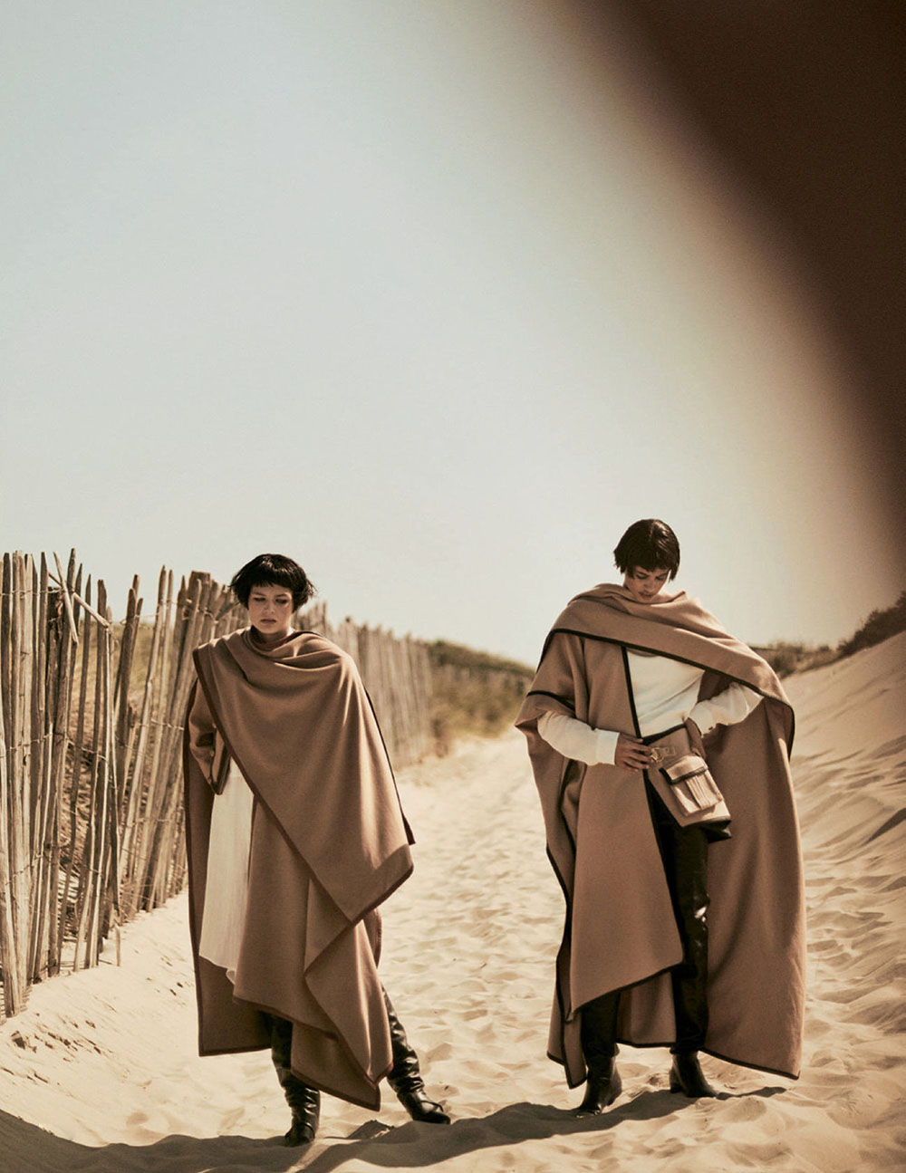 Malika El Maslouhi and Deirdre Firinne by Boo George for Vogue Russia November 2020