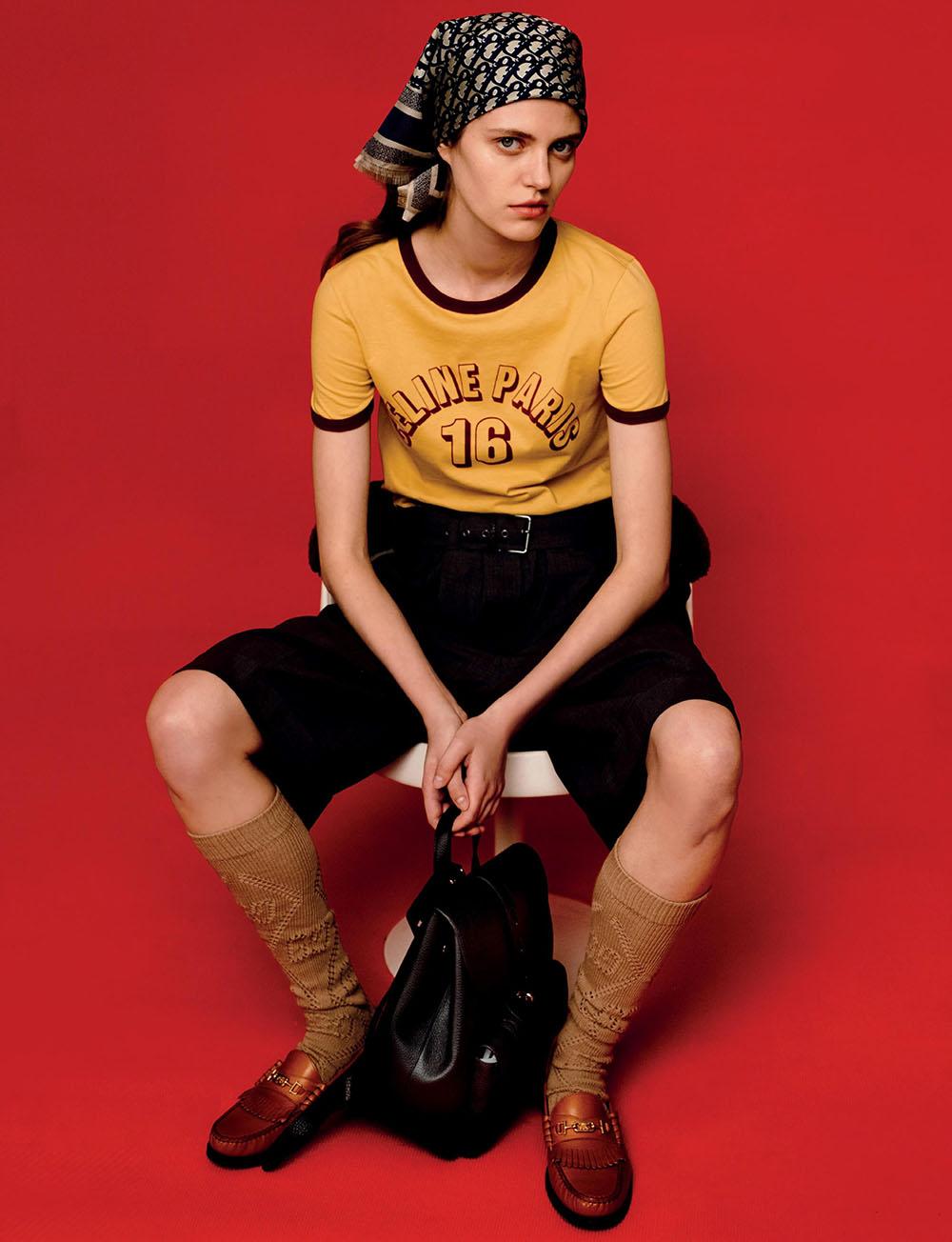 Nataliya Bulycheva by Kharatyan Pavel for Harper's Bazaar Singapore November 2020