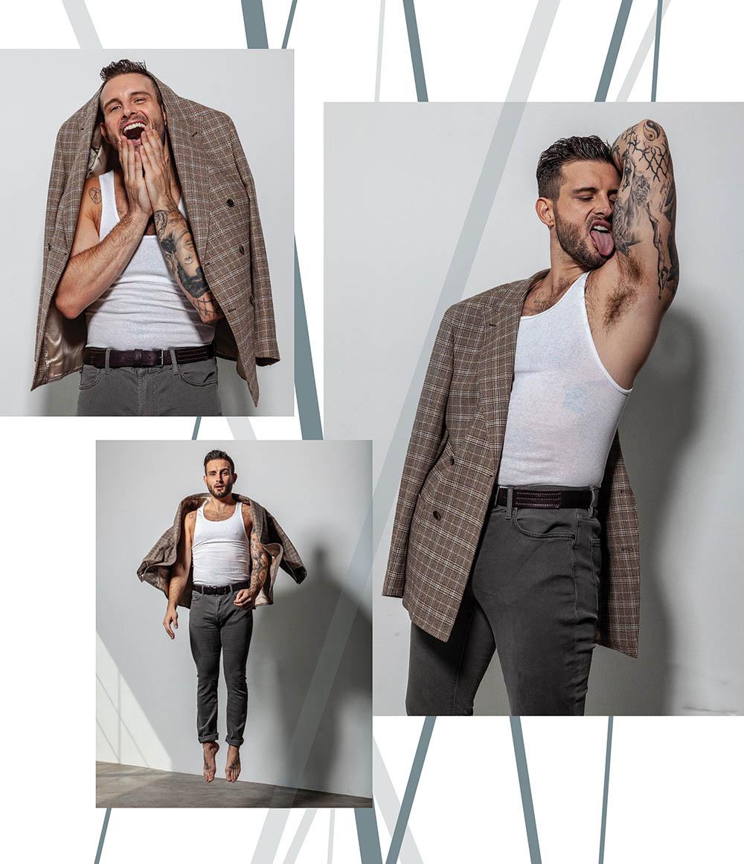 Nico Tortorella covers Attitude Magazine November 2020 by Harol Baez