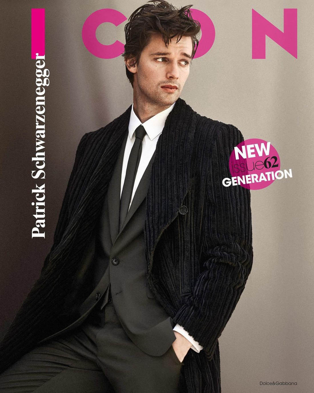 Patrick Schwarzenegger covers Icon Italia Issue 62 by John Balsom