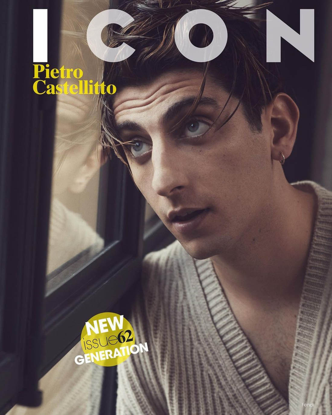 Pietro Castellitto covers Icon Italia Issue 62 by Laura Sciacovelli