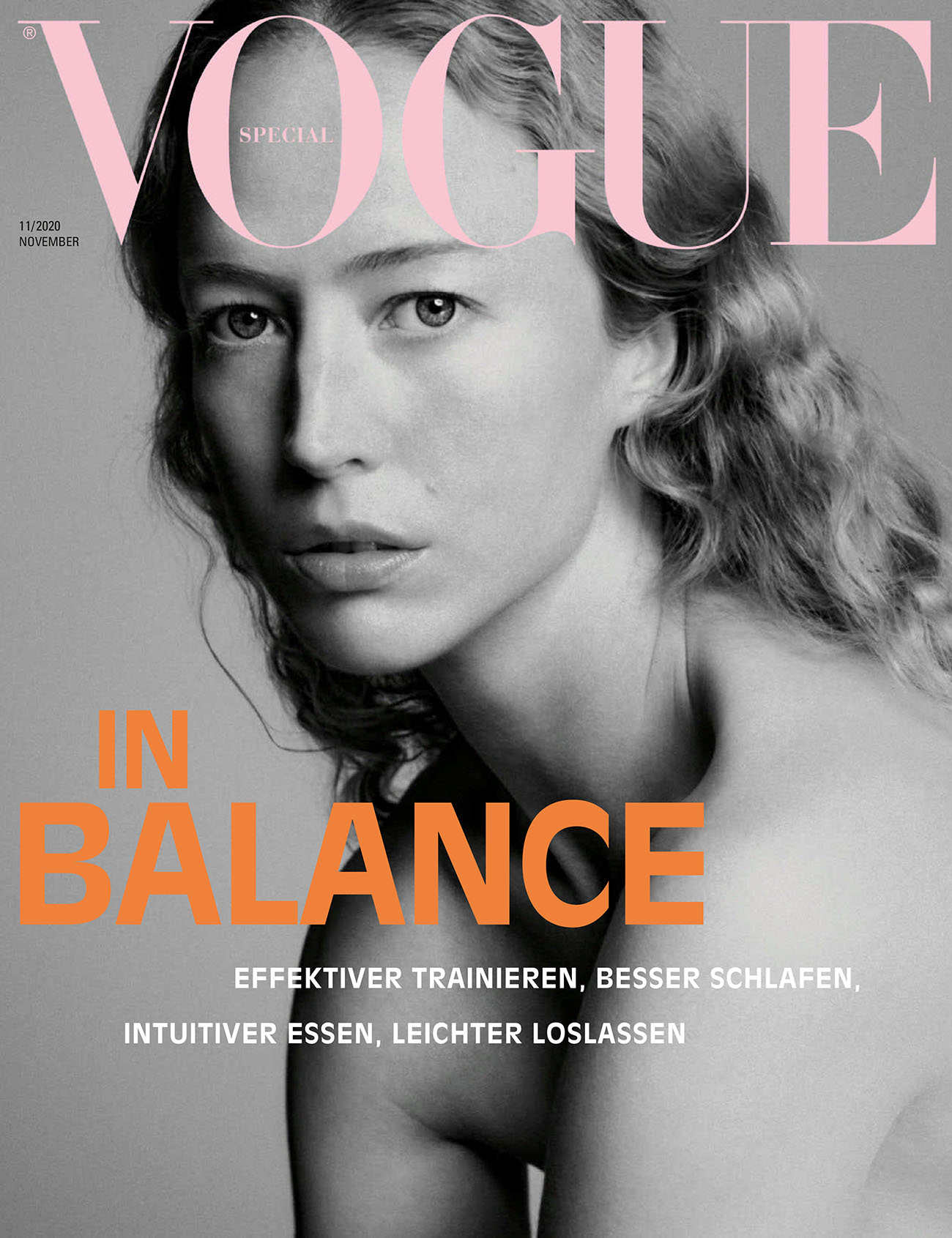 Raquel Zimmermann covers Vogue Germany November 2020 by Chris Colls