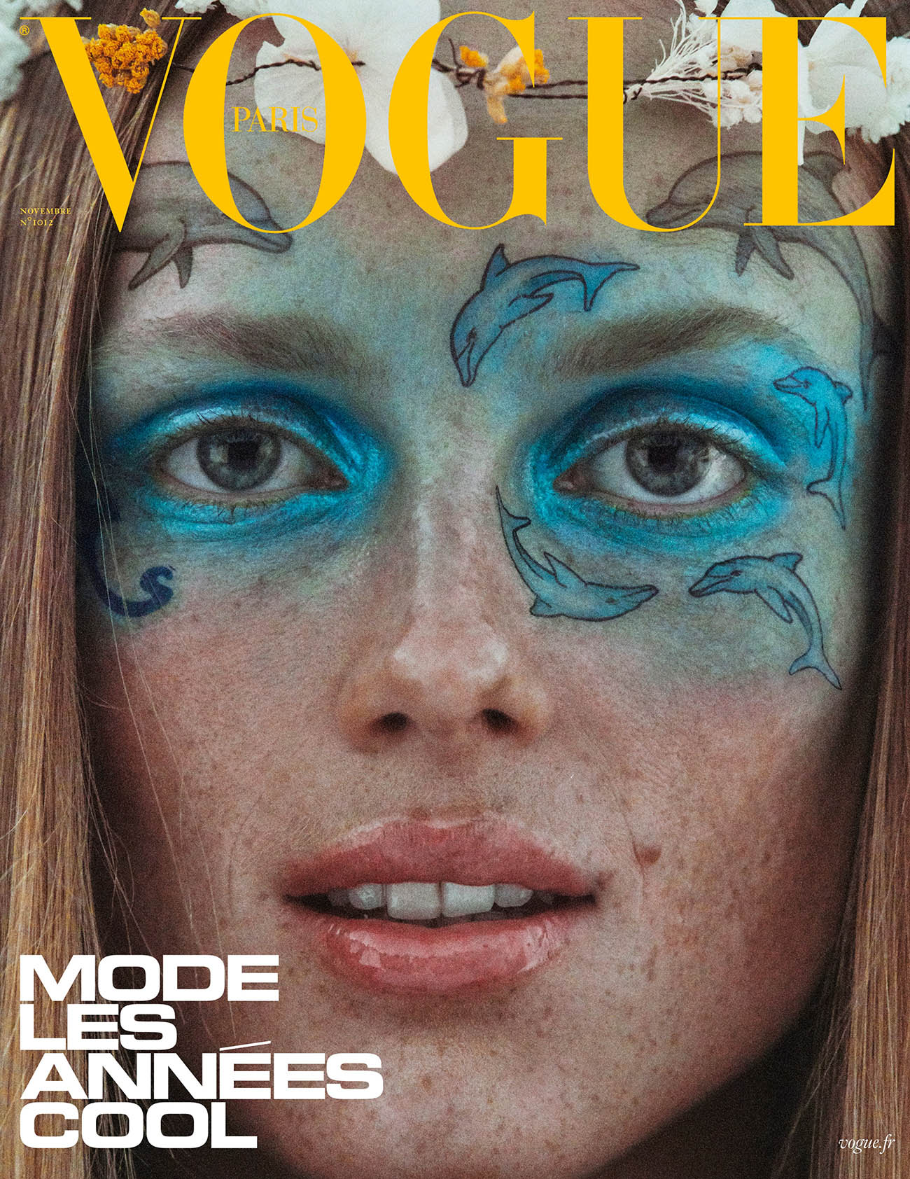 Rianne van Rompaey covers Vogue Paris November 2020 by Mikael Jansson