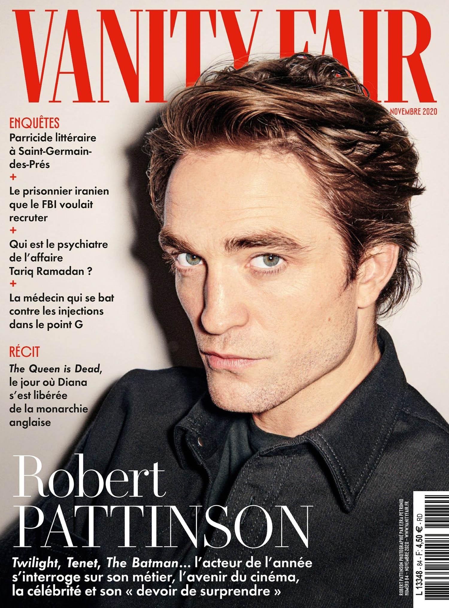 Robert Pattinson covers Vanity Fair France November 2020 by Ezra Petronio