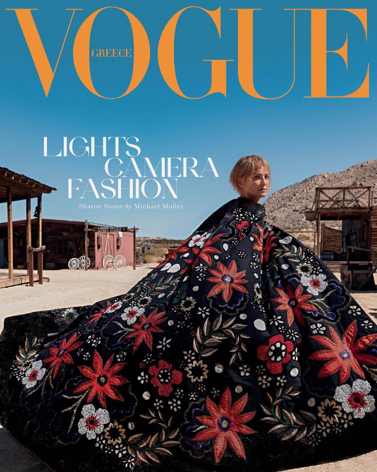 Sharon Stone covers Vogue Greece November 2020 by Michael Muller
