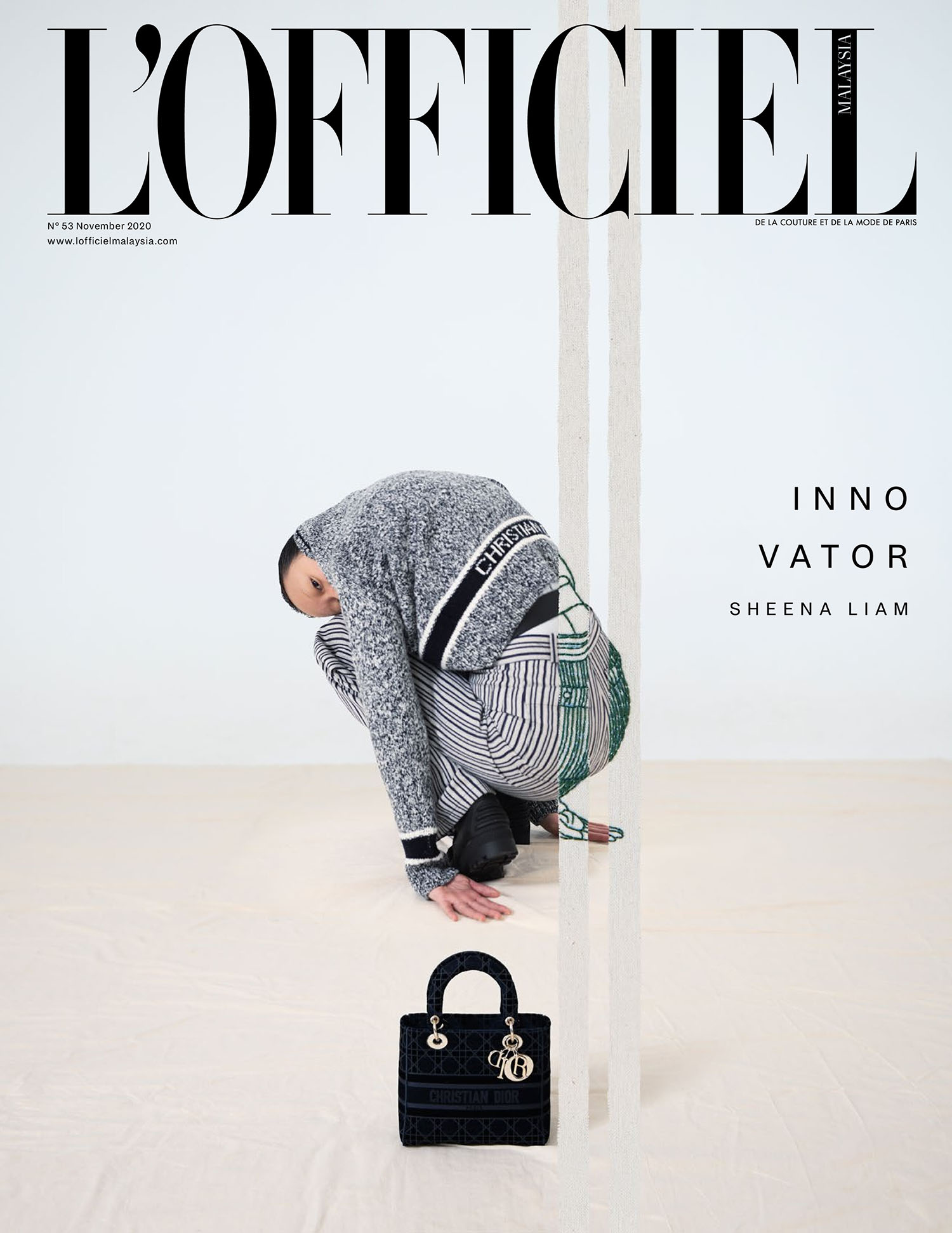 Sheena Liam covers L'Officiel Malaysia November 2020 by Chintoo