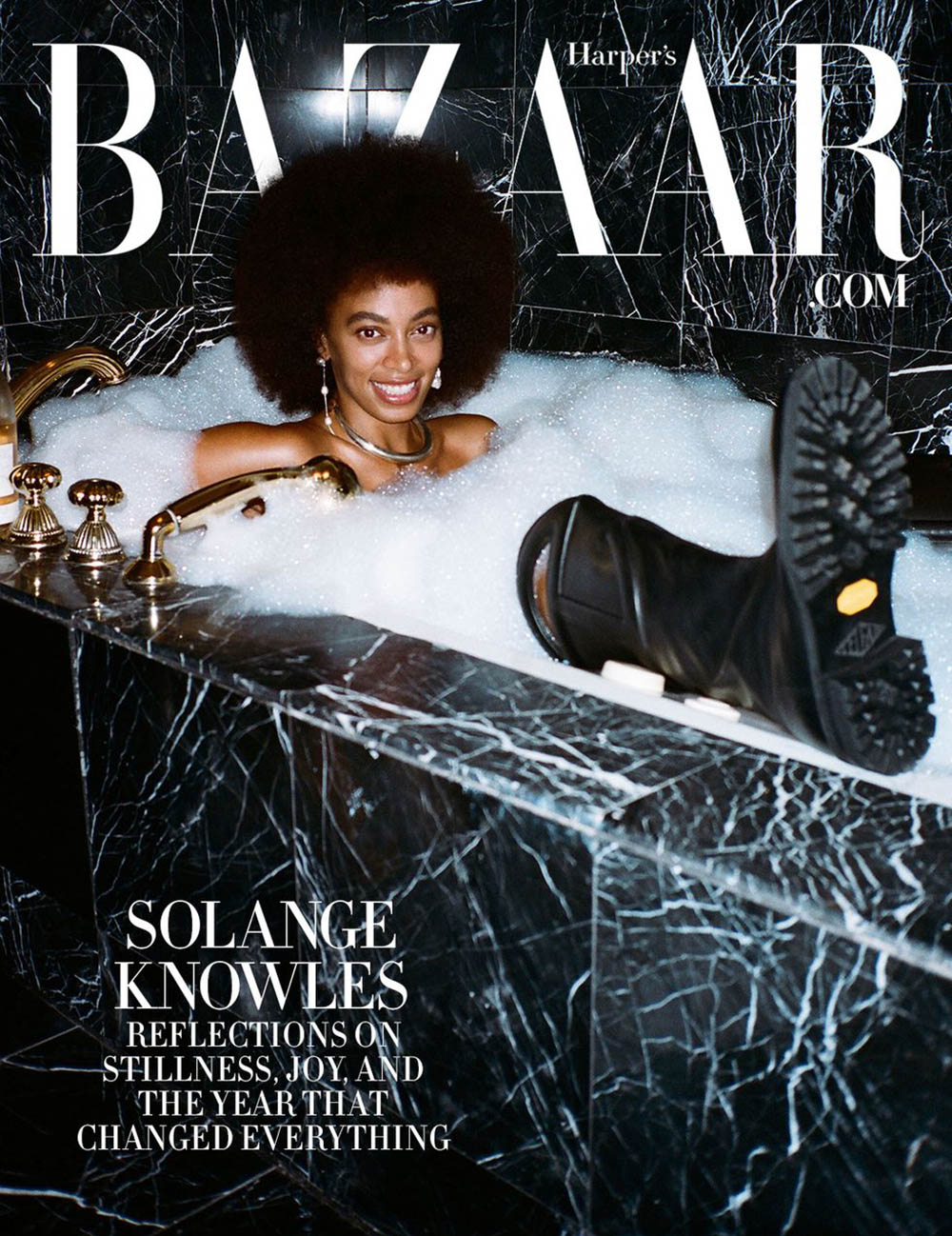 Solange Knowles covers Harper's Bazaar US Fall 2020 Digital Edition by Naima Green
