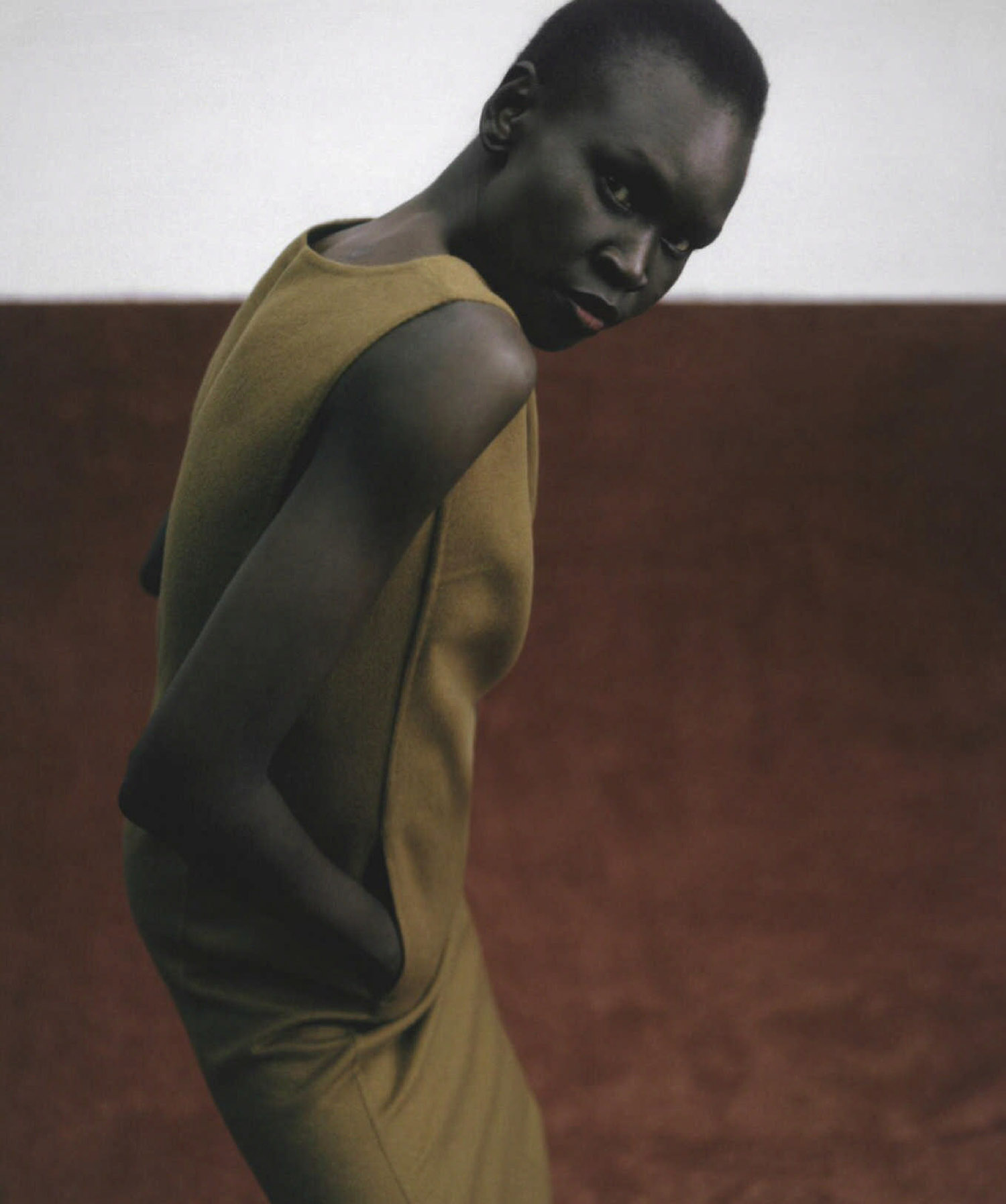 Alek Wek by Hanna Tveite for Vogue Australia December 2020