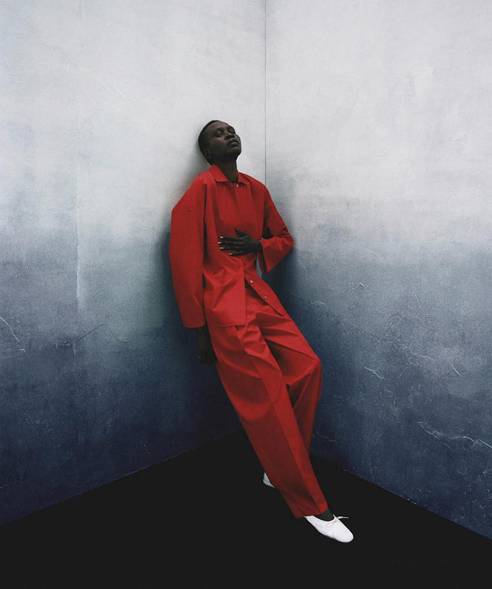 Alek Wek by Hanna Tveite for Vogue Australia December 2020