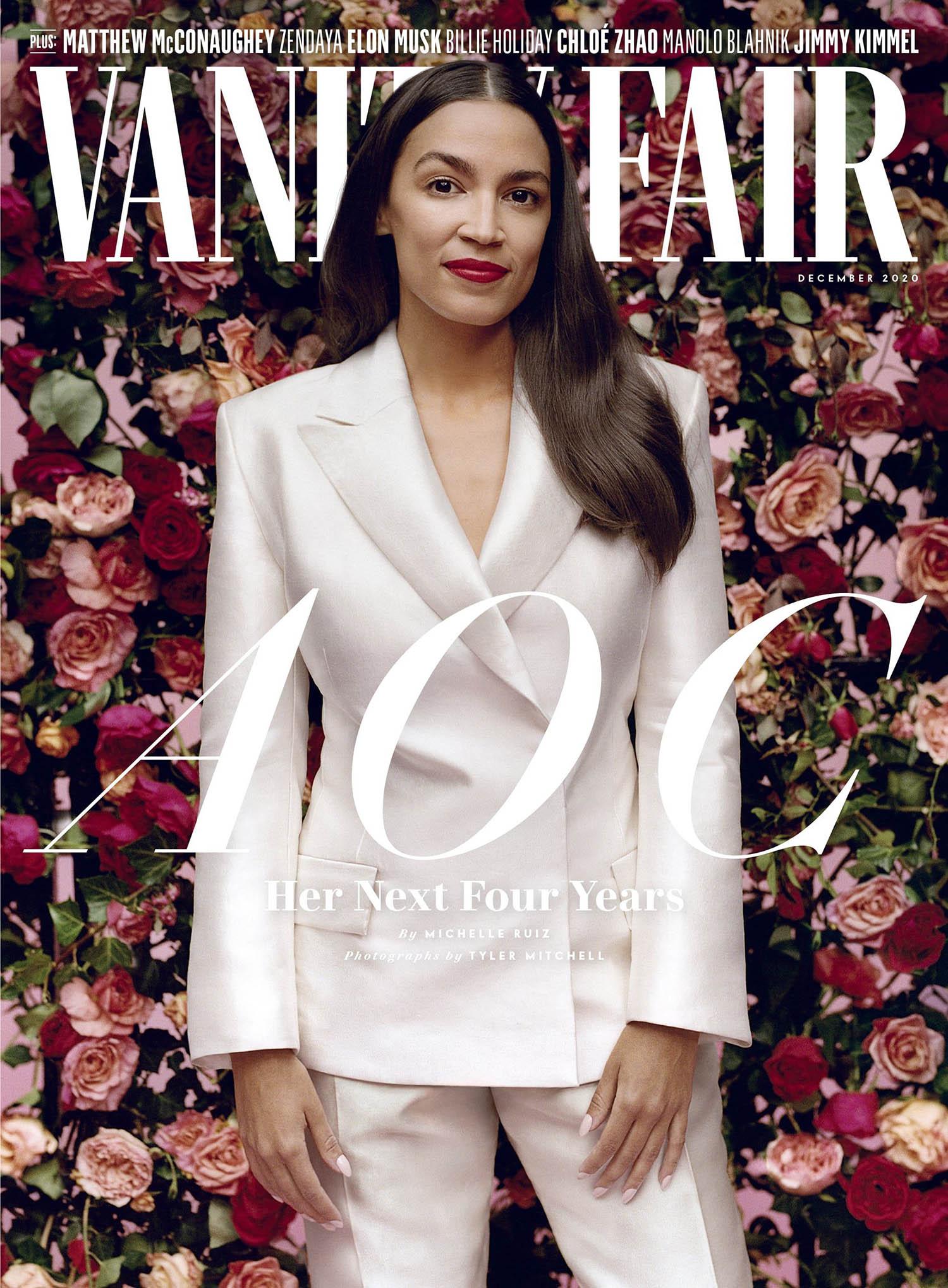 Alexandria Ocasio-Cortez covers Vanity Fair December 2020 by Tyler Mitchell