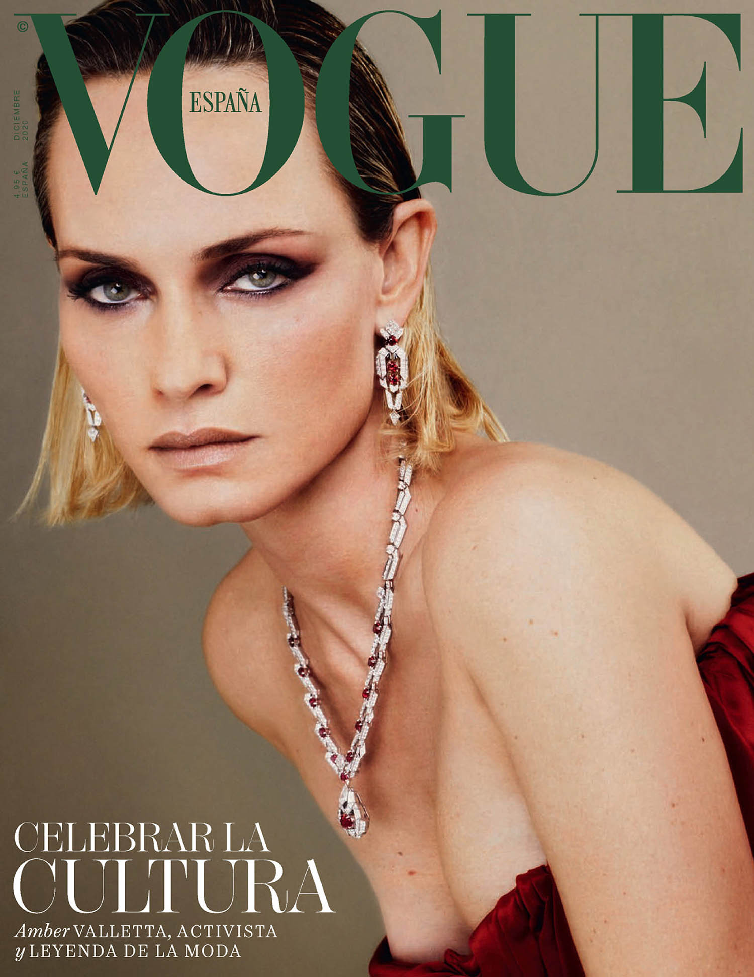 Amber Valletta covers Vogue Spain December 2020 by Txema Yeste