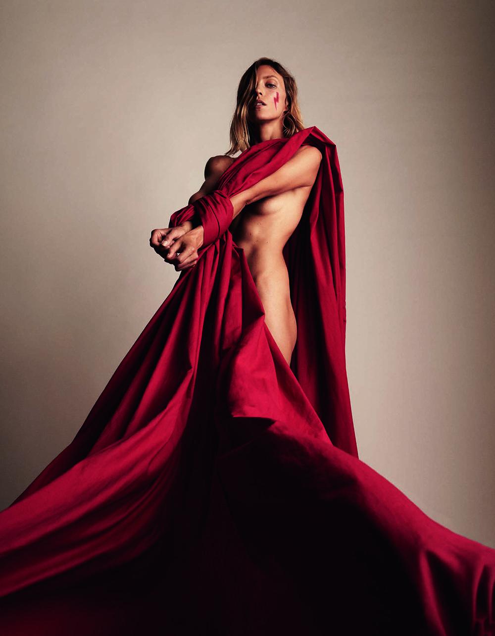 Anja Rubik covers Vogue Poland December 2020 by Anja Rubik