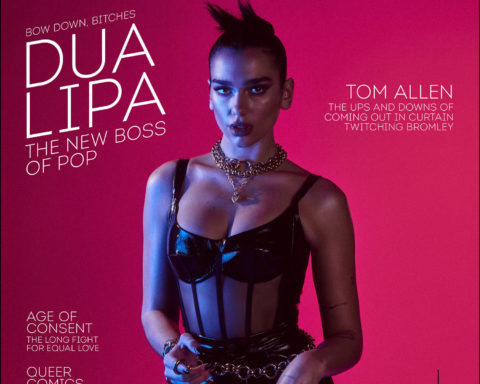 Dua Lipa covers Attitude Magazine December 2020 by Jonas Bresnan