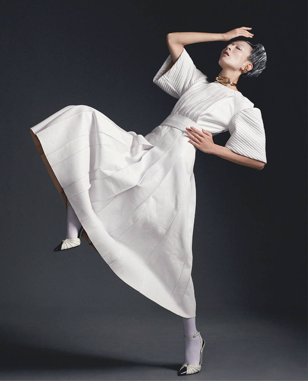 Frances Liu and Vanessa Pan by Cheng Po Ou Yang for Vogue Taiwan December 2020