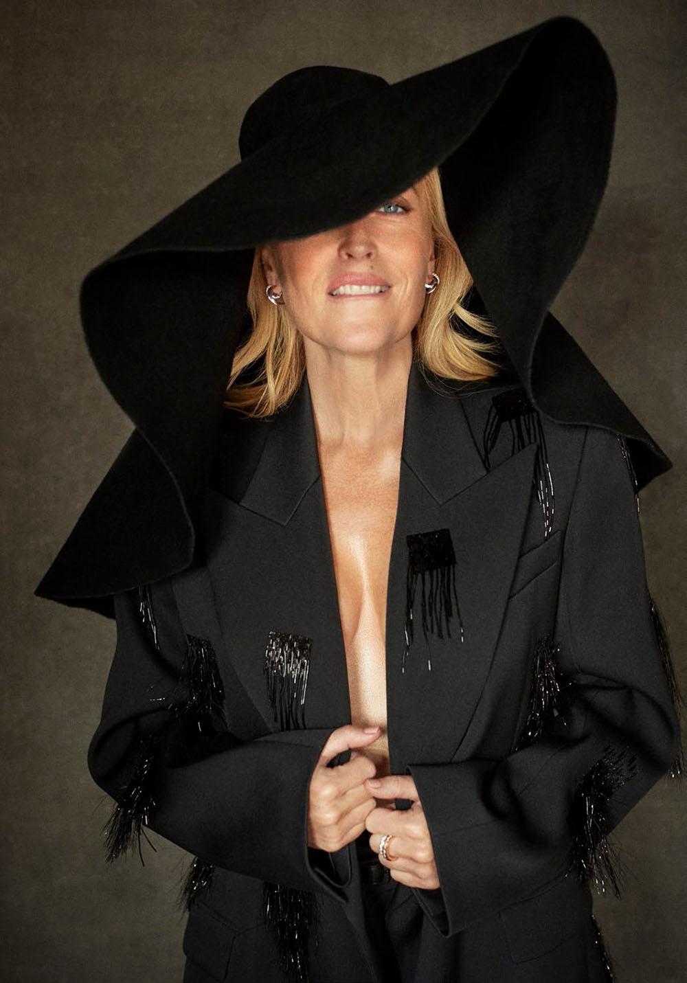 Gillian Anderson covers Harper's Bazaar UK December 2020 by Richard Phibbs