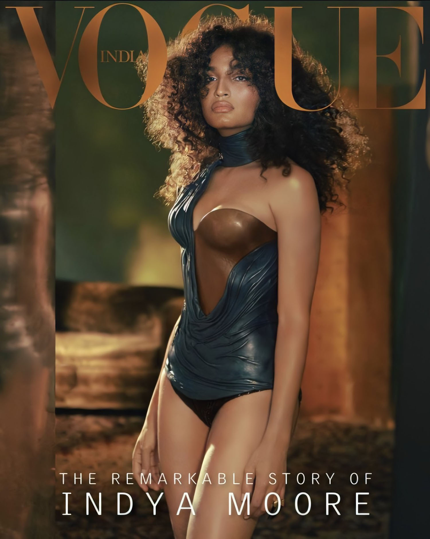 Indya Moore covers Vogue India October 2020 Digital Edition by Greg Swales