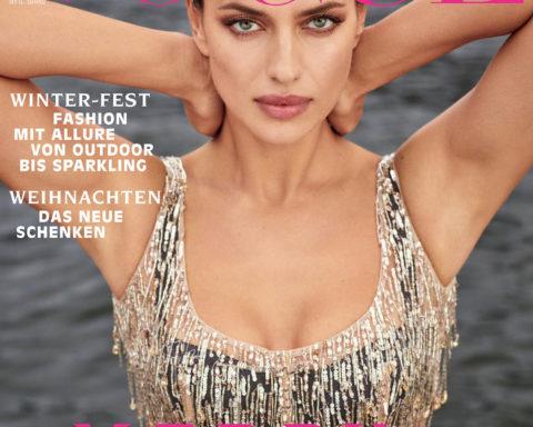 Irina Shayk covers Vogue Germany December 2020 by Luigi & Iango